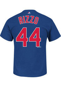 Anthony Rizzo Chicago Cubs Mens Name # Big and Tall Player Tee - Blue
