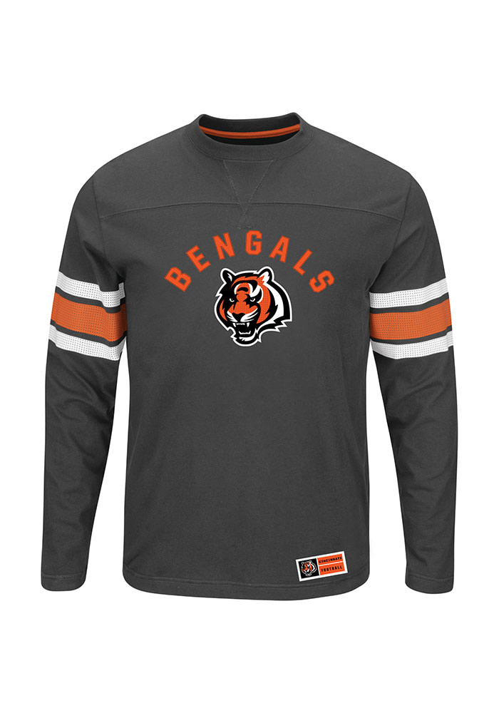 Cincinnati Bengals Mens Black Power Hit Big and Tall Long Sleeve T-Shirt - Image 1