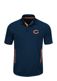 Chicago Bears Navy Blue Field Classic Polos Shirt