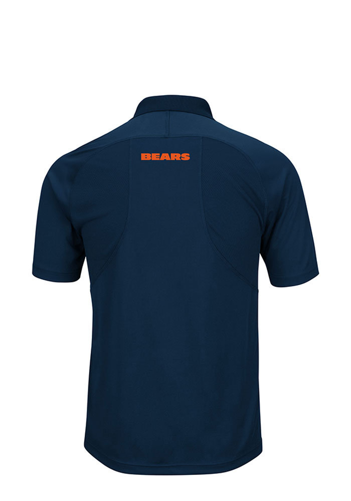 Chicago Bears Mens Navy Blue Field Classic Big and Tall Polos Shirt - Image 2