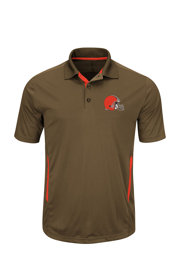 Cleveland Browns Mens Brown Field Classic Big and Tall Polos Shirt - Image 1