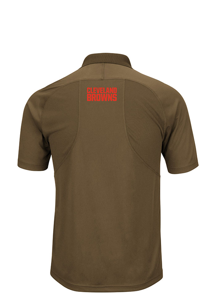 Cleveland Browns Mens Brown Field Classic Big and Tall Polos Shirt - Image 2