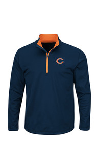 Chicago Bears Navy Blue Scoreboard 1/4 Zip Pullover