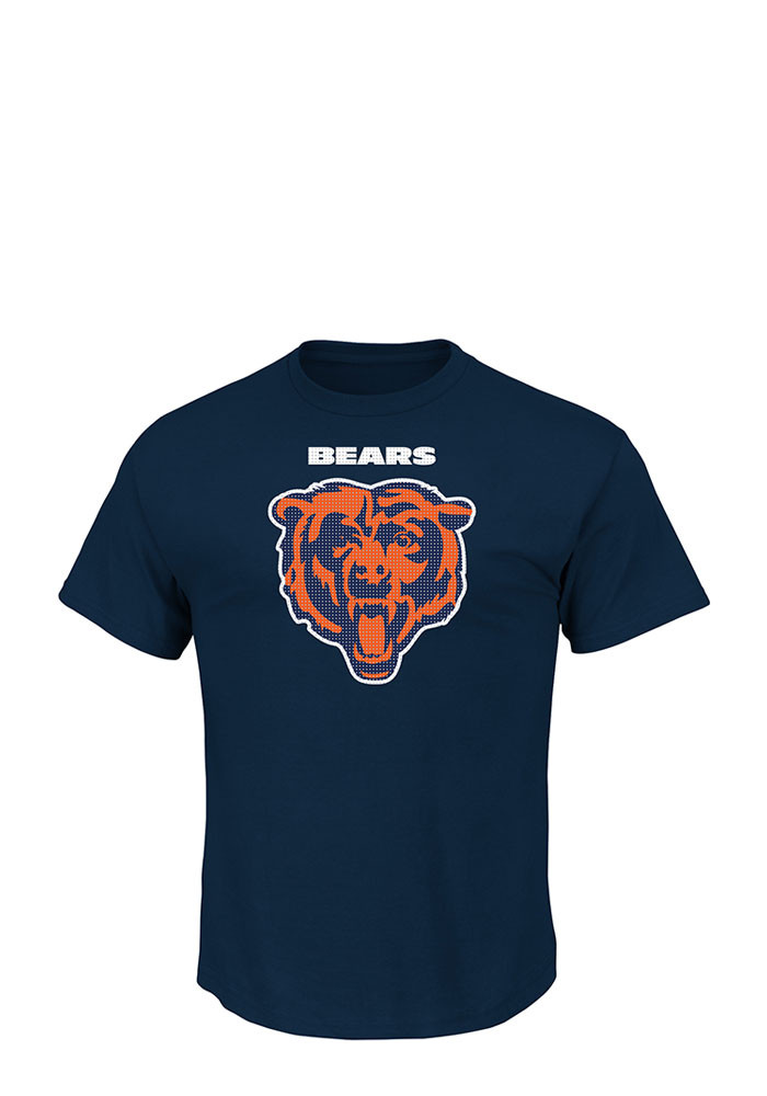 Chicago Bears Mens Navy Blue Critical Victory Big and Tall T-Shirt - Image 1
