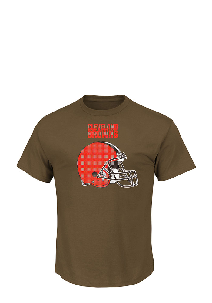 Cleveland Browns Mens Brown Critical Victory Big and Tall T-Shirt - Image 1