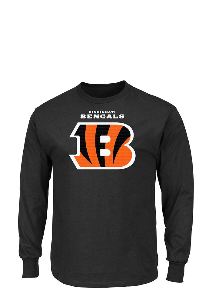 Cincinnati Bengals Mens Black Critical Victory Big and Tall Long Sleeve T-Shirt - Image 1