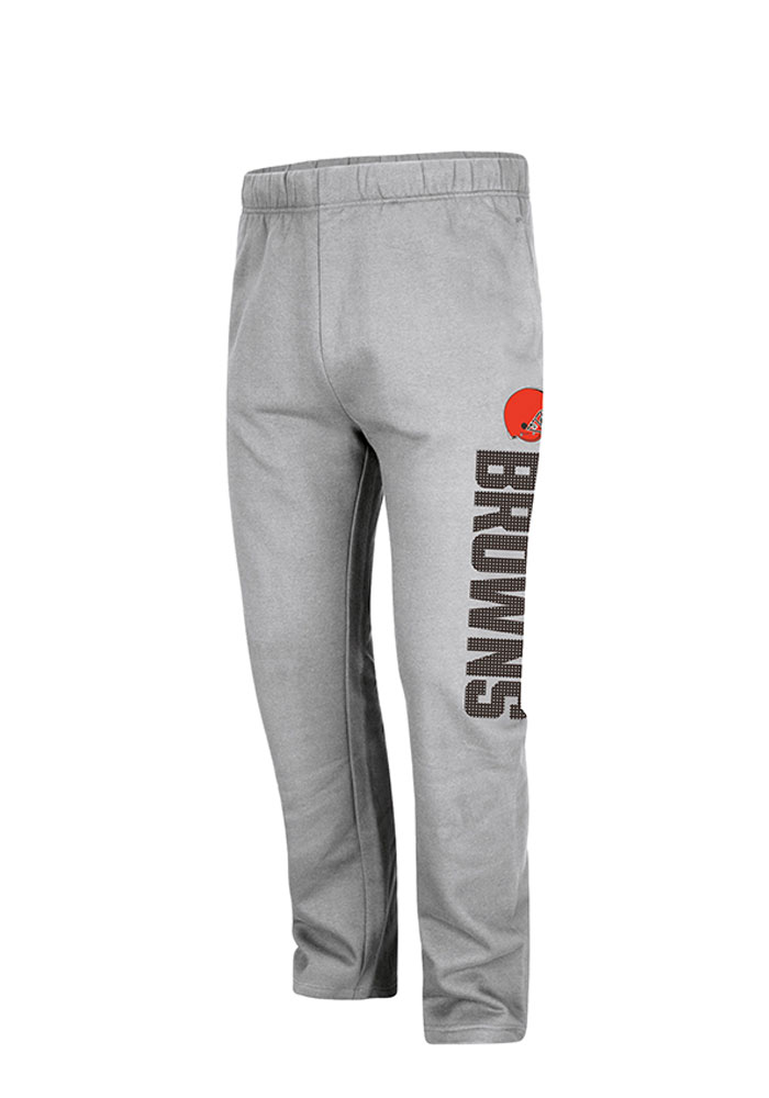 Cleveland Browns Mens Grey Getting Started Big and Tall Sweatpants - Image 1