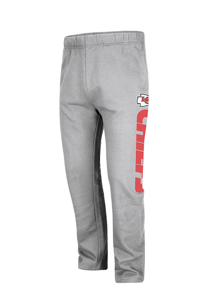 Kansas City Chiefs Mens Grey Getting Started Big and Tall Sweatpants - Image 1