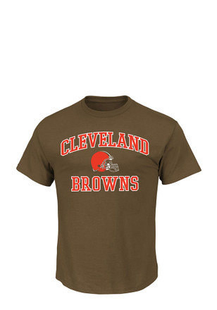 Cleveland Browns Mens Brown Heart and Soul T-Shirt