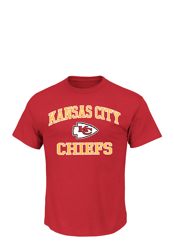 Kansas city chiefs mens red heart and soul big and tall t for Kansas city chiefs tee shirts