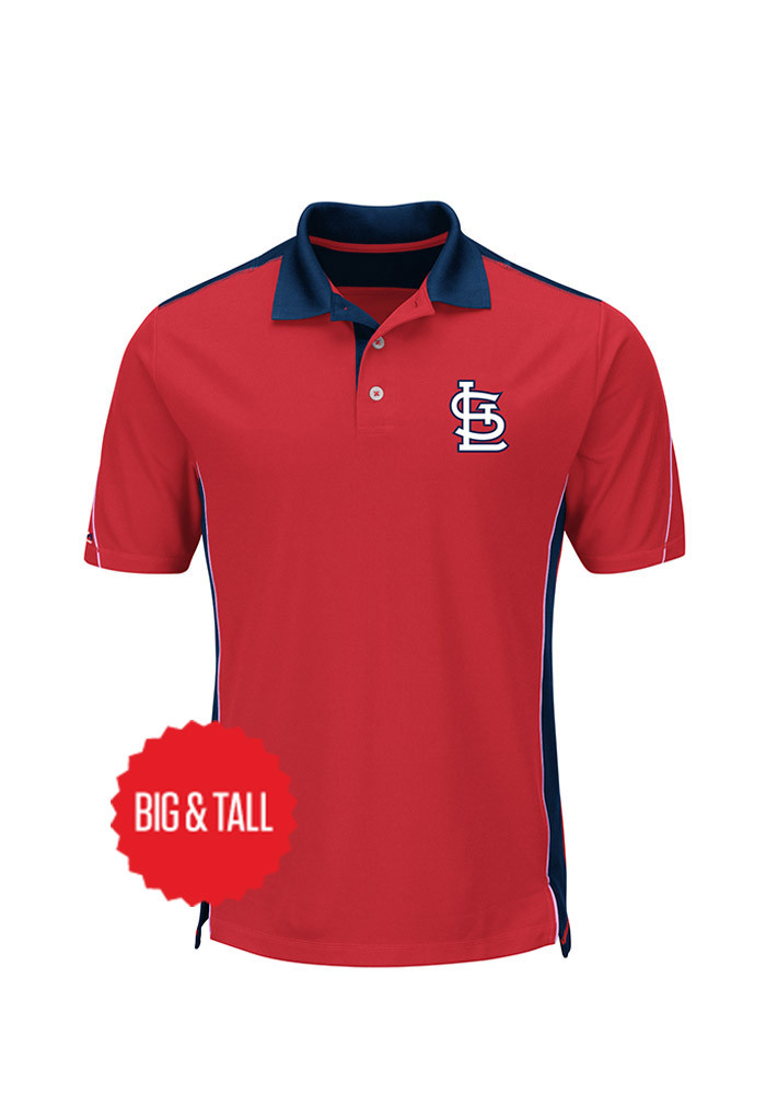 St louis cardinals mens red to the 10th power big and tall for Mens big and tall golf shirts