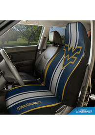 West Virginia Mountaineers Universal Bucket Car Seat Cover - Blue