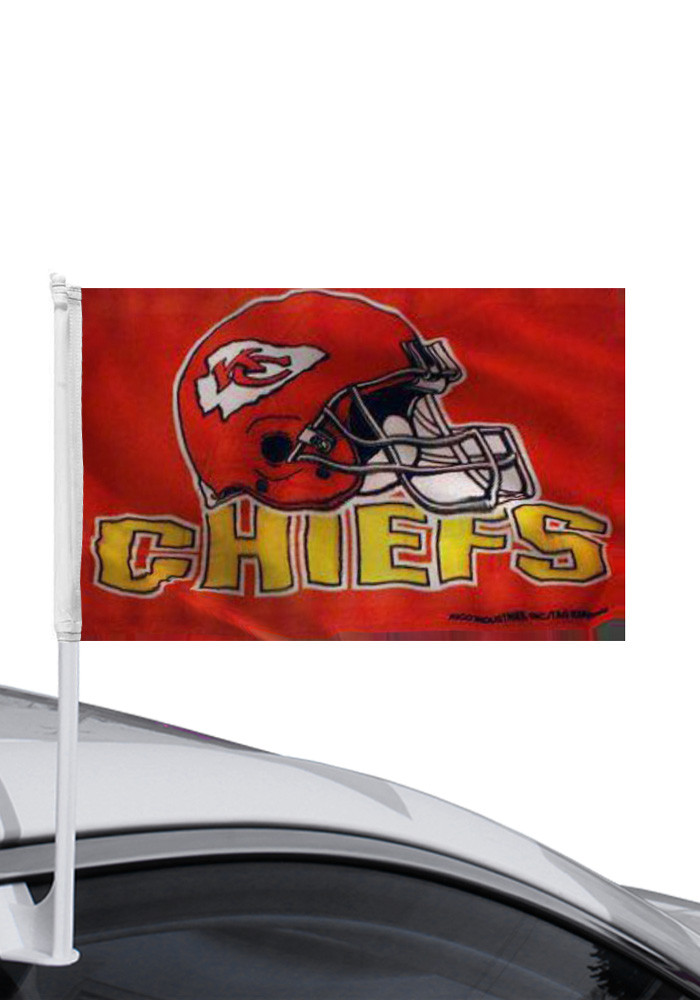 Kansas City Chiefs 11x14 Red Nylon Car Flag - Image 1