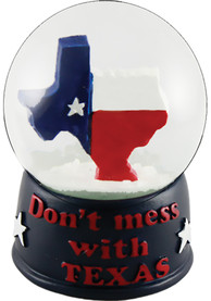Texas Dont Mess With Texas Water Globe