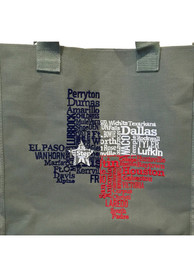 Texas Blue State shape Tote