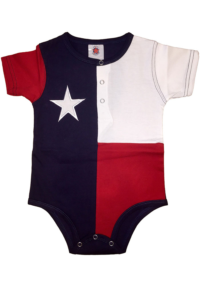 Texas Infant Navy Flag One Piece - Image 1