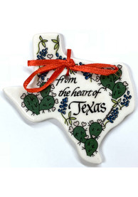 Texas From the Heart of Texas Ceramic Ornament
