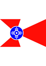 Wichita City White Silk Screen Grommet Flag