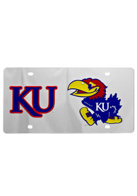 Kansas Jayhawks KU and a Jayhawk Car Accessory License Plate
