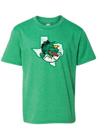 Carroll High School Dragons Youth Rally Primary Logo Distressed T-Shirt - Green