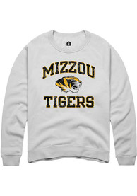Missouri Tigers Rally Number One Distressed Crew Sweatshirt - White