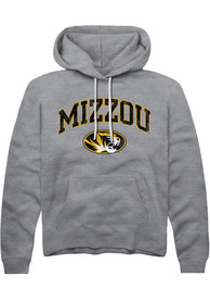 Missouri Tigers Rally Arch Mascot Distressed Hooded Sweatshirt - Grey