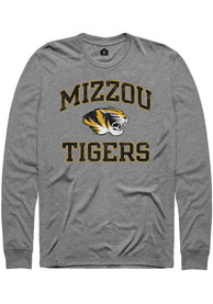 Missouri Tigers Rally Number One Distressed Fashion T Shirt - Grey
