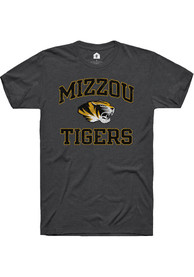 Missouri Tigers Rally Number One Distressed Fashion T Shirt - Charcoal