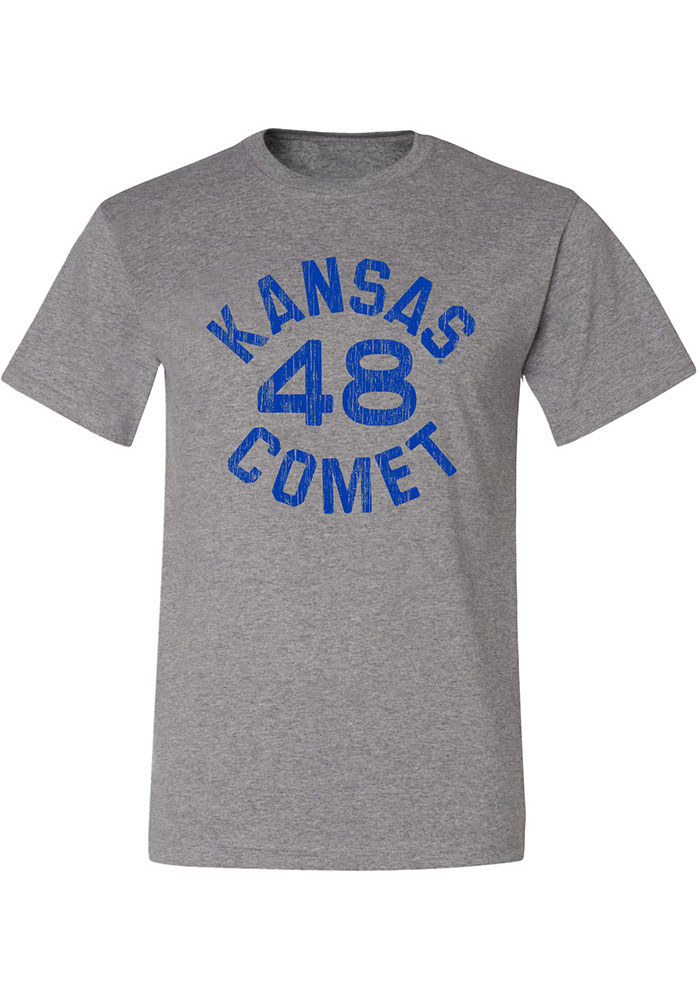 Gale Sayers Kansas Jayhawks Grey Kansas Comet 48 Short Sleeve Fashion Player T Shirt - Image 1