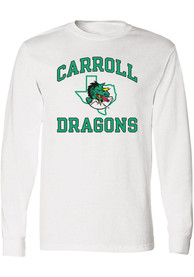 Carroll High School Dragons Rally Number One T Shirt - White