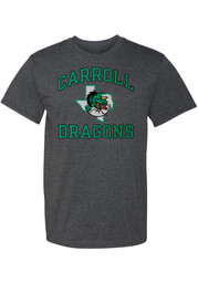 Carroll High School Dragons Rally Number One T Shirt - Charcoal