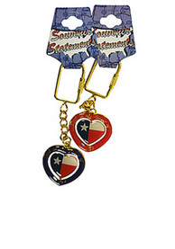Texas Deep in the Heart Keychain