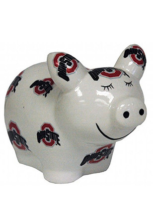 Ohio State Buckeyes All Over Logo Piggy Piggy Bank