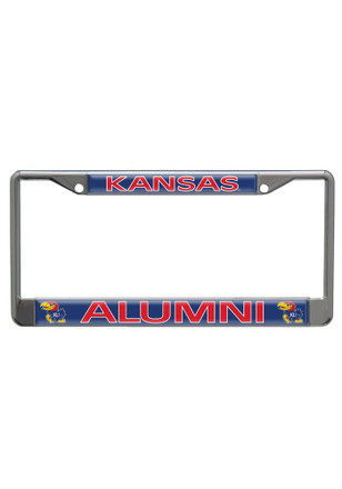Kansas Jayhawks Alumni Domed Car Accessory License Frame