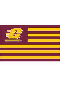 Central Michigan Chippewas 3x5 Striped Maroon Silk Screen Grommet Flag