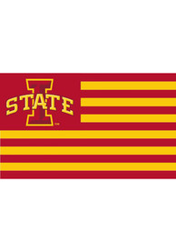 Iowa State Cyclones Nations Red Silk Screen Grommet Flag