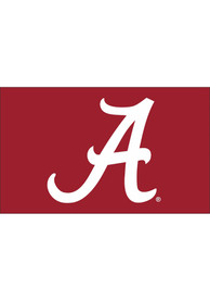 Alabama Crimson Tide Basic Logo Red Silk Screen Grommet Flag