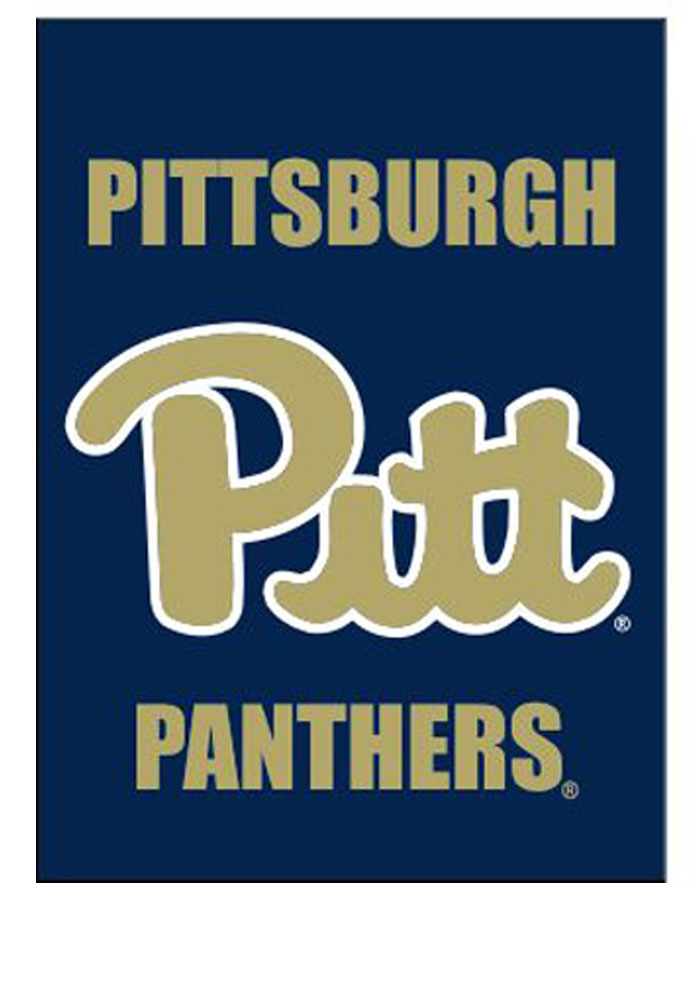 Pitt Panthers 2-Sided Team Logo Banner - Image 1