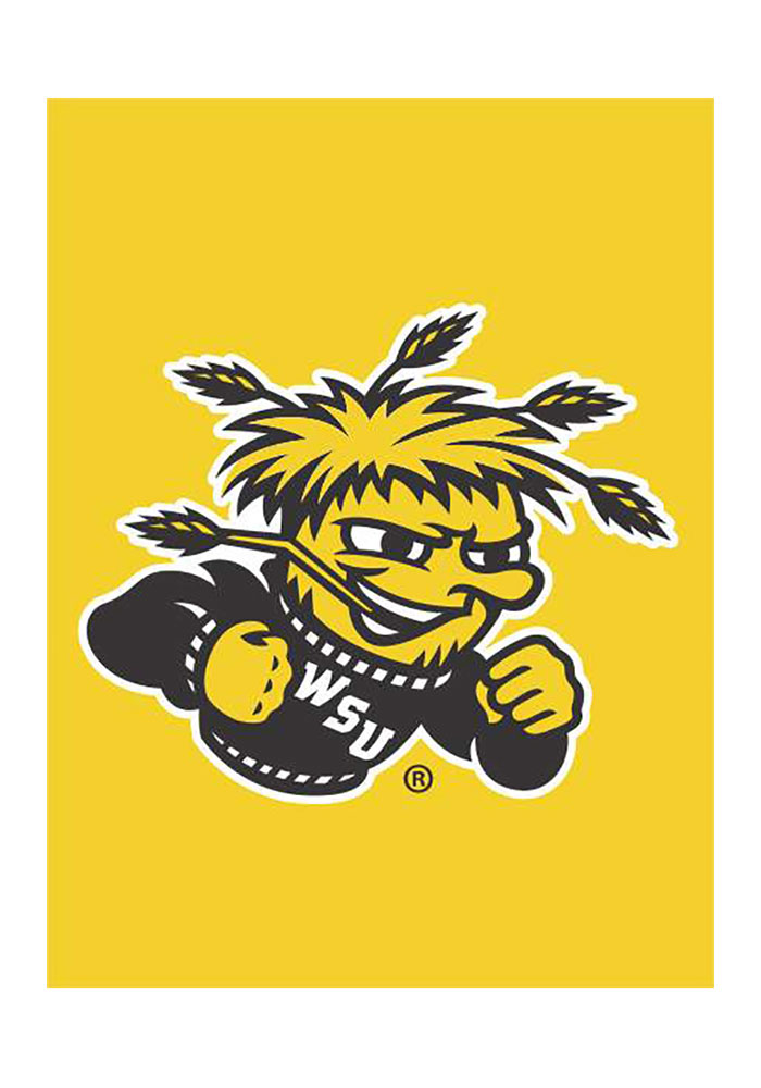 Wichita State Shockers 30x40 Gold Silk Screen Banner - Image 1