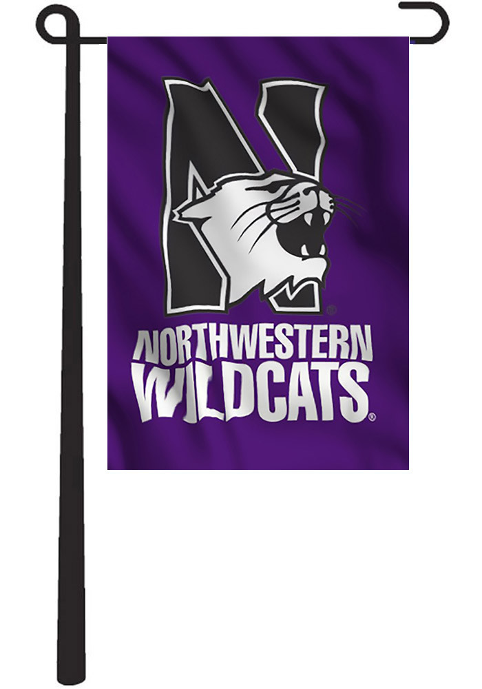 Northwestern Wildcats Team Logo Garden Flag - Image 1