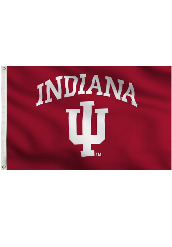 Indiana Hoosiers Grommet Red Silk Screen Grommet Flag - Image 1