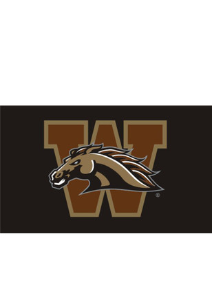 Western Michigan Broncos Team Logo Grommet Black Silk Screen Grommet