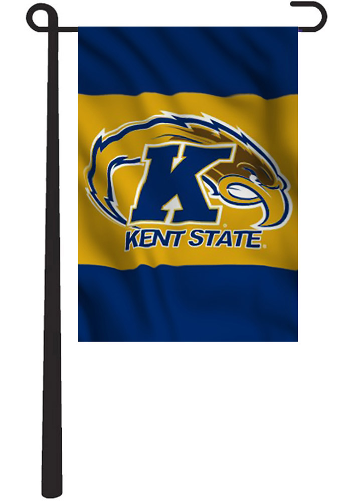 Kent State Golden Flashes Team Logo Panel Garden Flag - Image 1