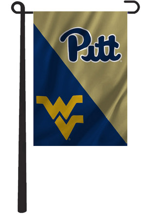 Pitt Panthers and West Virginia House Divided Garden Flag