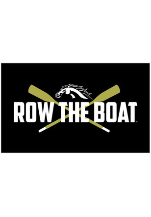 Western Michigan Broncos Row The Boat Black Silk Screen Grommet