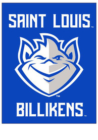 Saint Louis Billikens 30x40 Team Logo Banner