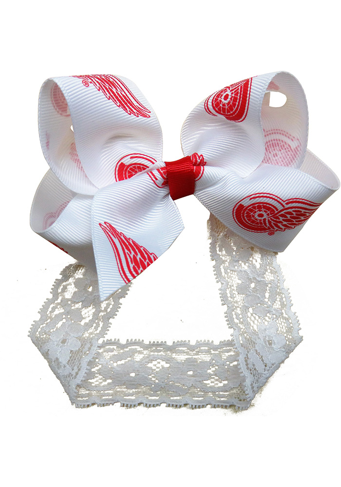 Detroit Red Wings Lace Toddler Headband - Image 1