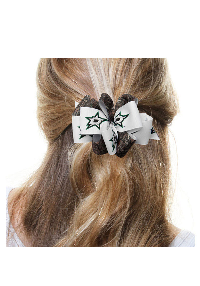 Dallas Stars Camoflague Mary Loop Kids Hair Barrette - Image 1