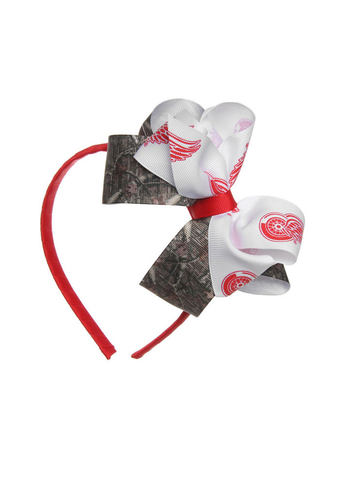 Detroit Red Wings Camo Junior Bow Kids Headband - Image 1