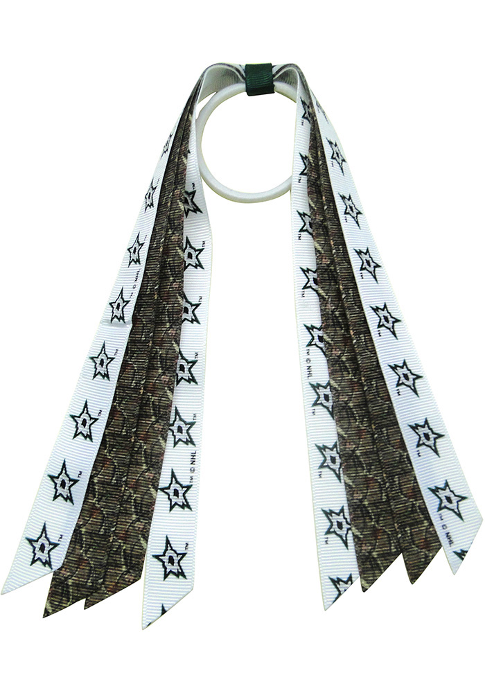 Dallas Stars Camo Mini Pony Hair Ribbons